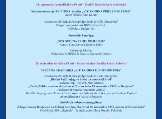 Program XVII Festivala bunjevačkog narodnog stvaralaštva